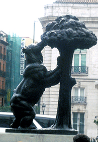 Bear and the Strawberry Tree statue