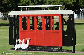 Tram Sculpture